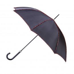Parapluie droit noir uni avec biais maillons