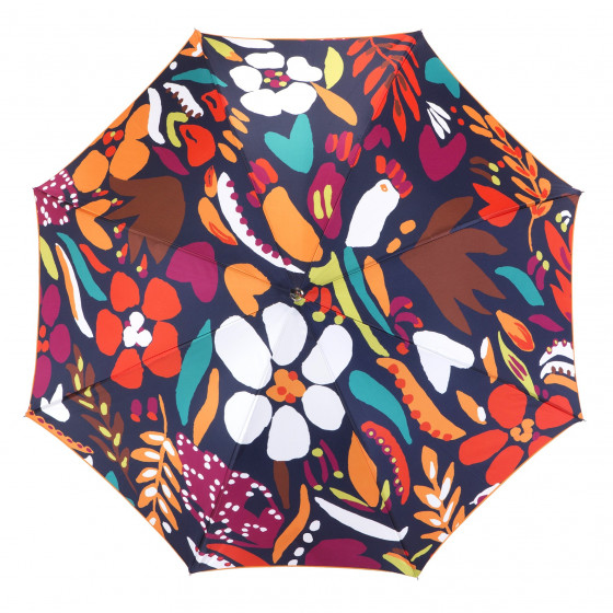 Parapluie Droit pour femme Paisley bleu