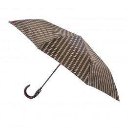 Parapluie Homme Oscar pliant mini automatique 8 baleines poignée bois courbe