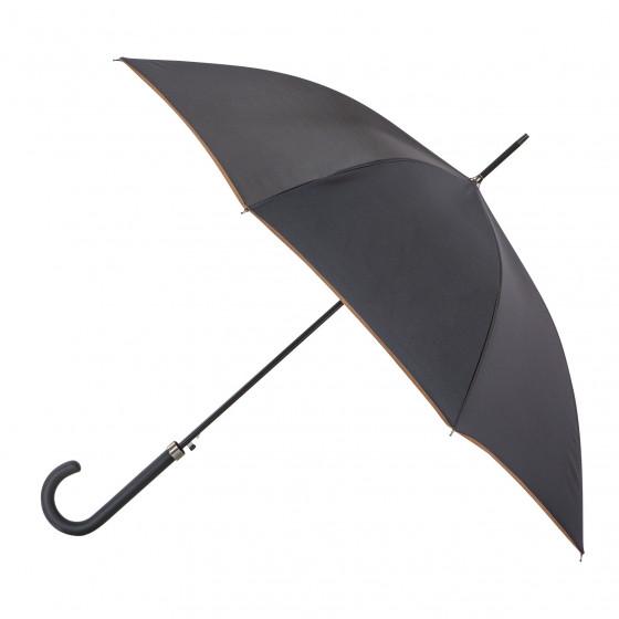 Parapluie Droit Noir  Finition Couture