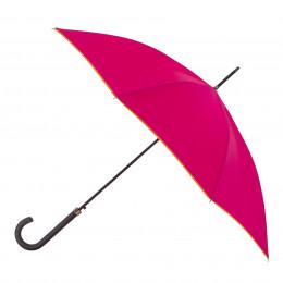 Parapluie Essentiel Uni Pink + Biais Mandarine droit automatique