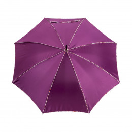 Parapluie droit noir uni avec biais sensuality