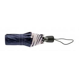 Parapluie Pliant Bleu Nuit Finition Couture