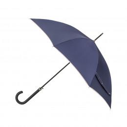 Parapluie Droit Bleu Nuit  Finition Couture
