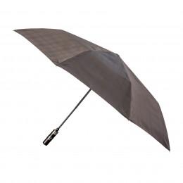 Parapluie Homme Prince de Galles pliant mini automatique 8 baleines poignée bois droite