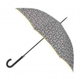 Parapluie Femme Fourrure + biais jaune