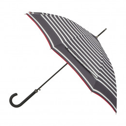Parapluie Femme Marinière + biais rouge