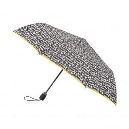 Parapluie Pliant Fourrure + biais jaune