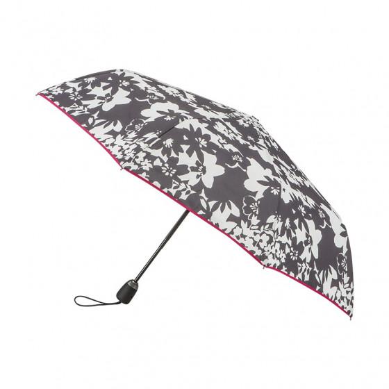 Parapluie Pliant Flore + biais rose