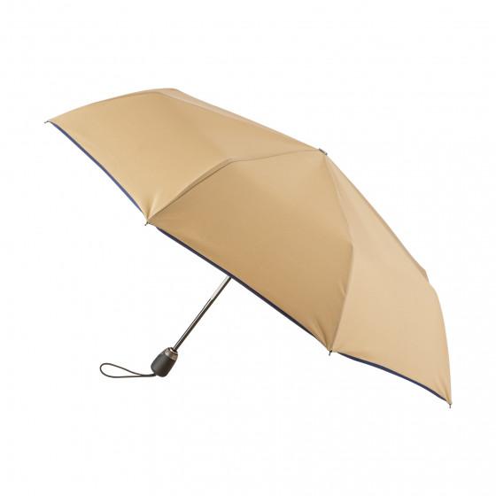 Parapluie Pliant Beige Finition Couture