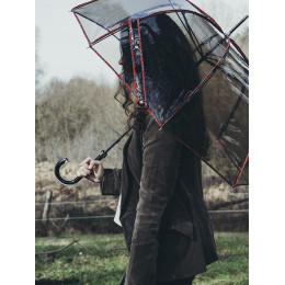 Parapluie Transparent  cloche Sherlock