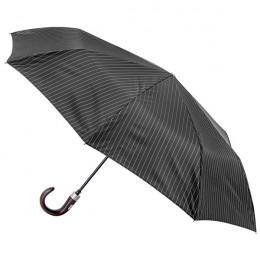 Parapluie Homme Ultra-Chic pliant mini automatique 8 baleines poignée bois courbe