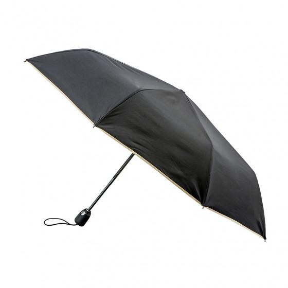 Parapluie Pliant Noir Finition beige