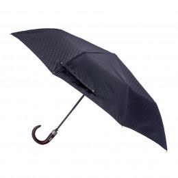 Parapluie Homme Arabica pliant mini automatique 8 baleines poignée bois courbe