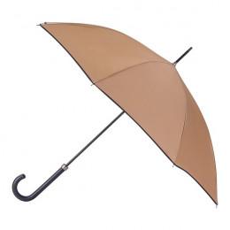 Parapluie Essentiel Uni Camel Biais Noir droit automatique