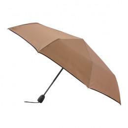 Parapluie pliant camel finition couture