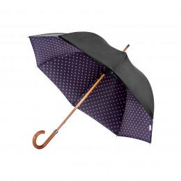 Parapluie Droit Doublé Pois