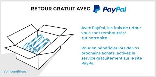 Retours gratuits avec Paypal